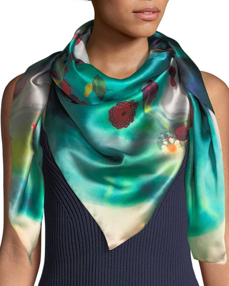 Dahlia Silk Kaleidoscope Scarf