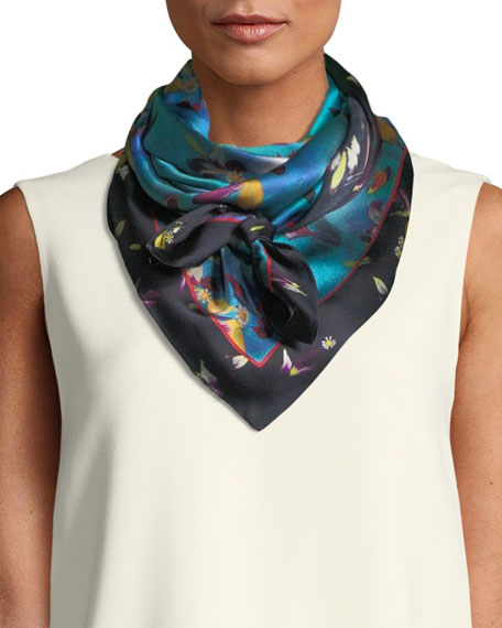 Lisa King Primrose Silk Scarf