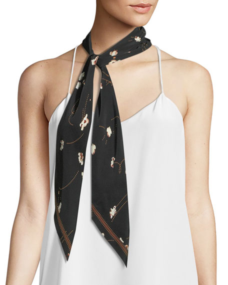 Rockins Popcorn Super Skinny Silk Scarf