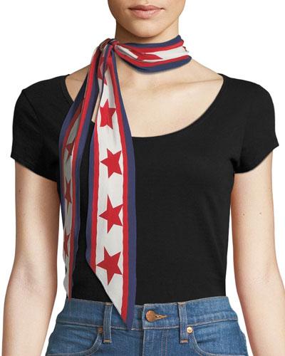 Americana Silk Necktie Scarf