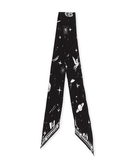 Cosmic Dancer Super Skinny Silk Scarf