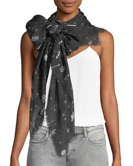Cosmic Dancer Fringe Scarf