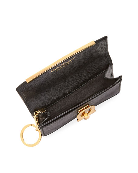 Icona Saffiano Card and Key Holder