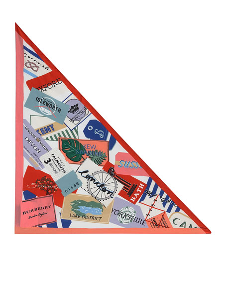 Ticket Stub Print Silk Bandana