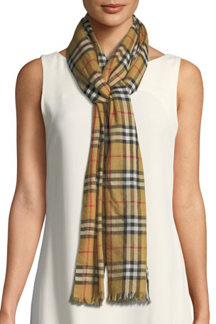 Burberry Vintage Check Lightweight Gauze Scarf