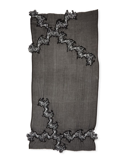 Opposite Attraction Lace-Trim Stole