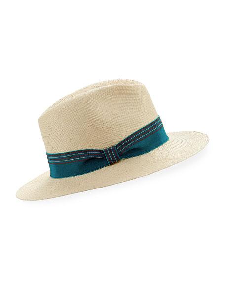 Inverni Indi Straw Panama Hat, Size 57
