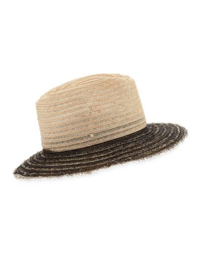 Indi Two-Tone Fedora Hat