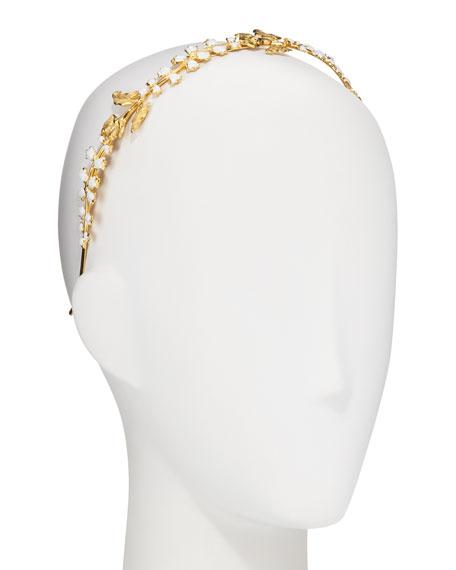 Liora Lily Bud & Calla Flower 14K Gold-Plated Enamel Headband