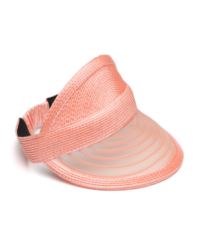 Vicky Woven Visor, Light Orange