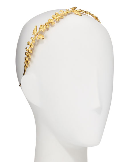 Liora Lily Bud & Calla Flower 14K Gold-Plated Headband
