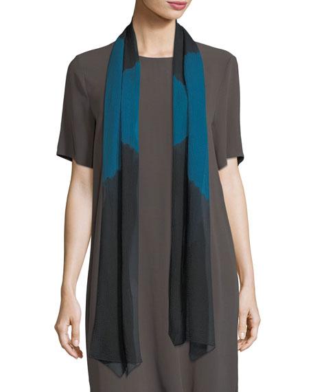 Symmetry Silk Shibori Scarf