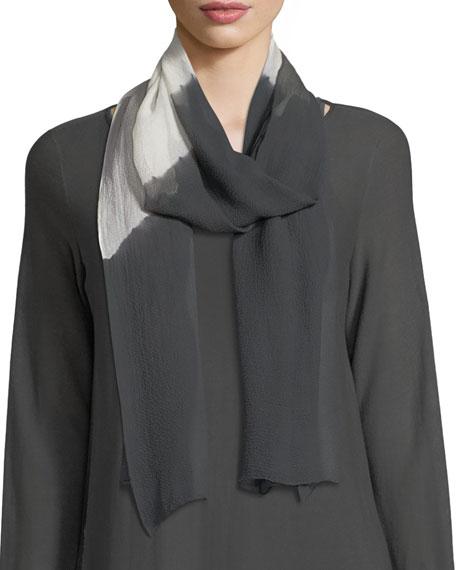 Eileen Fisher Symmetry Silk Shibori Scarf