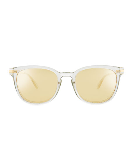 Plationist Mirrored Rectangle Sunglasses