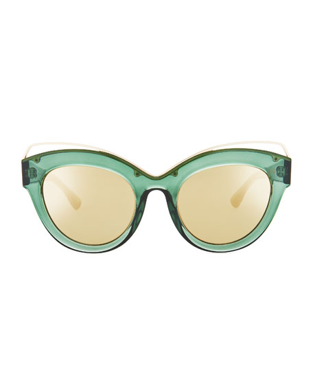 Halogazer Translucent Cat-Eye Sunglasses