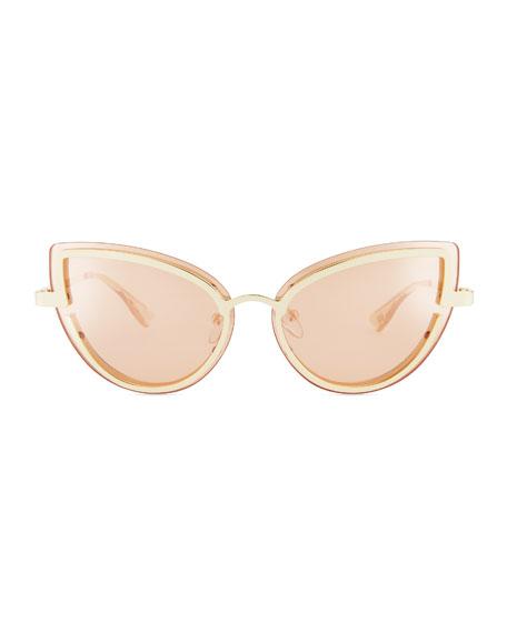 Adulation Mirrored Cat-Eye Sunglasses