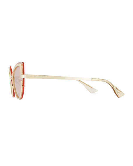Adulation Mirrored Cat-Eye Sunglasses