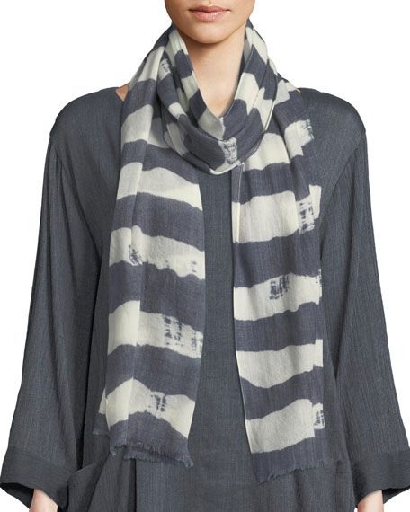 Adele Brushed Striped Scarf