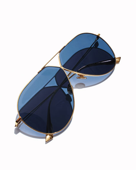 Stell3 Mirrored Aviator Sunglasses