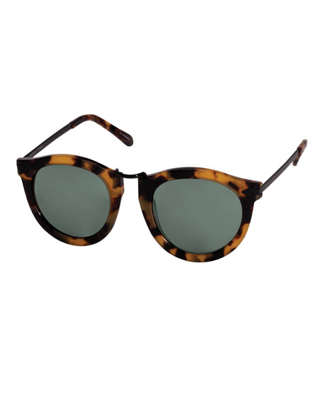 Alternative Fit Harvest Monochromatic Sunglasses, Brown Pattern