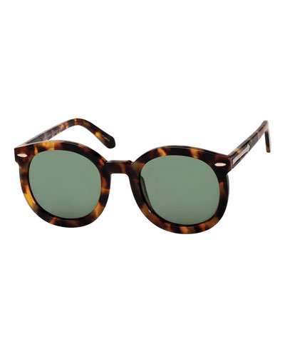 Alternative Fit Super Duper Round Sunglasses, Brown Pattern