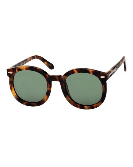 Karen Walker Alternative Fit Super Duper Round Sunglasses,