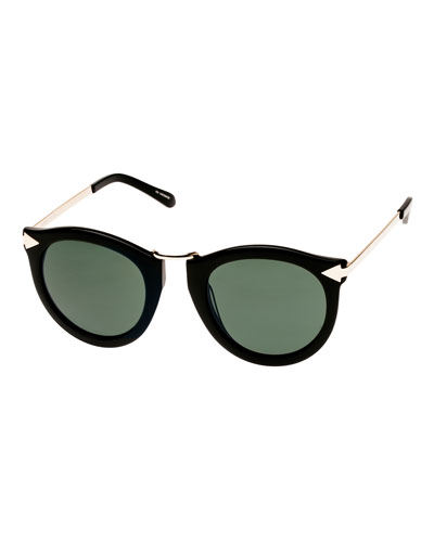 Alternative Fit Harvest Monochromatic Sunglasses, Black Pattern
