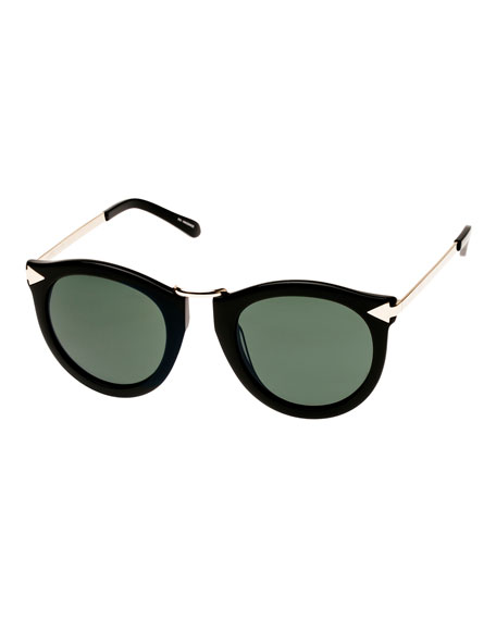 Alternative Fit Harvest Monochromatic Sunglasses, Black Pattern