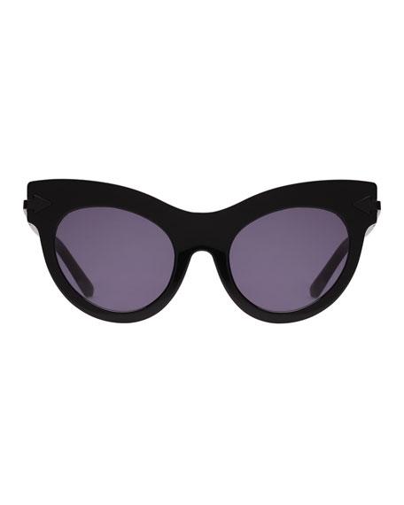 b38f9e6e69a Karen Walker Miss Lark 52Mm Cat Eye Sunglasses - Black