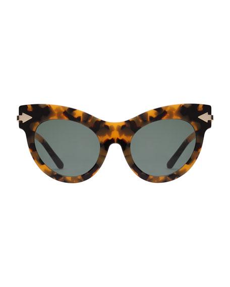 Miss Lark Tortoise Cat-Eye Sunglasses