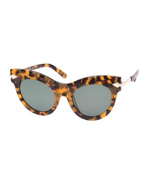 e4495840acccc Karen Walker Miss Lark Tortoise Cat-Eye Sunglasses