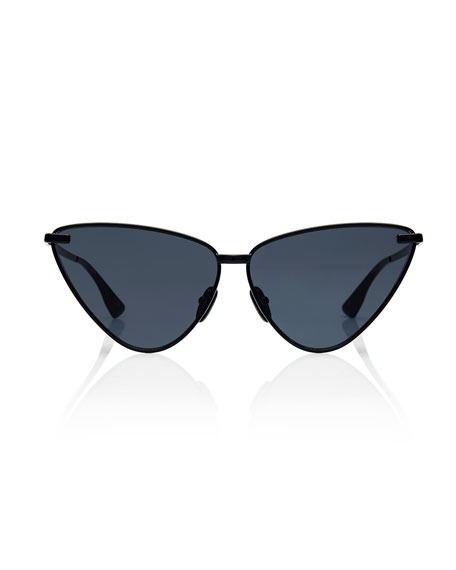 Nero Angled Metal Cat-Eye Sunglasses