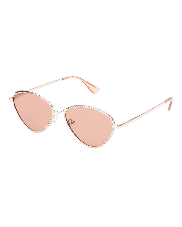 fa934705a3 Le Specs Luxe Bazaar Laser-Cut Geometric Sunglasses