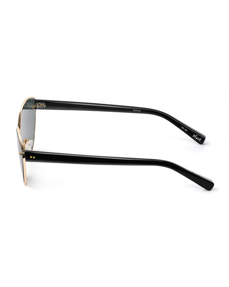 Mack Metal & Acetate Cat-Eye Sunglasses
