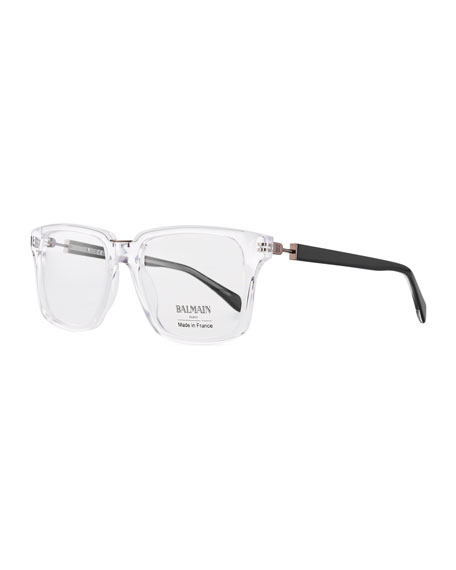 Balmain Clear Acetate Square Optical Glasses