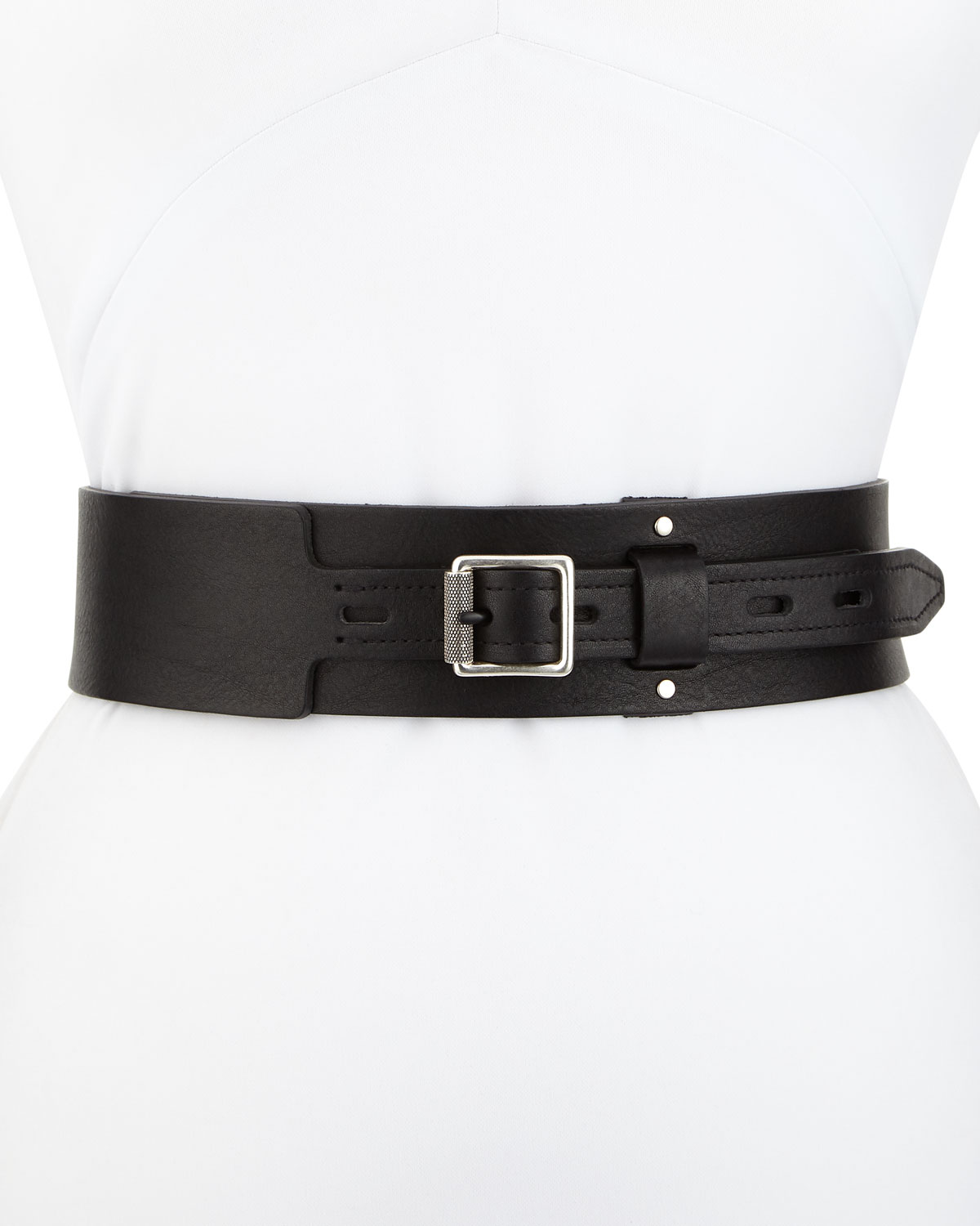 Field Leather Waist Belt - Black Rag & Bone nv5QxThD0