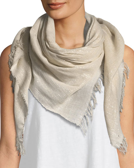 Sparkle Cotton-Blend Wrap Scarf