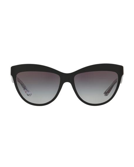 Doodle Cat-Eye Acetate Sunglasses