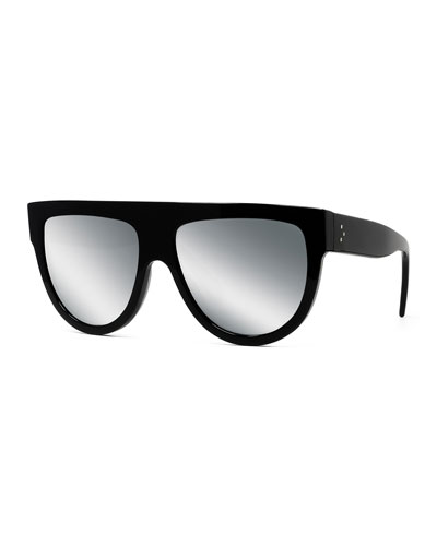 Flattop Gradient Shield Sunglasses  Black Pattern