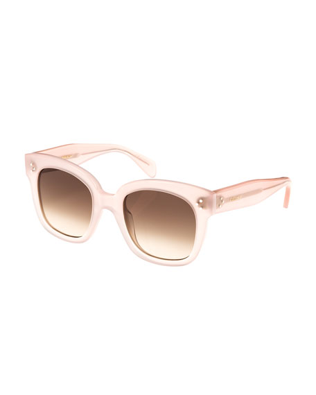 Celine Square Gradient Acetate Sunglasses, Pink Pattern