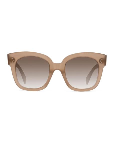 Square Gradient Acetate Sunglasses, Black Pattern