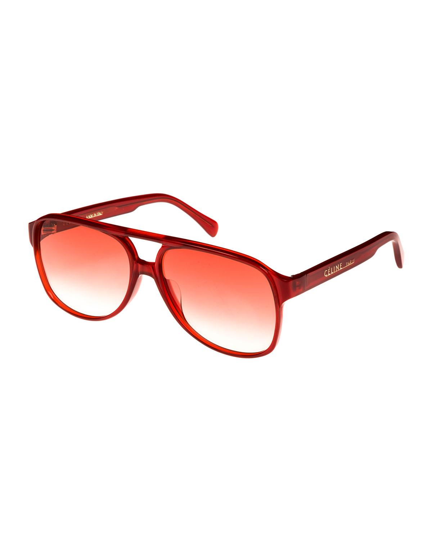 bd2ca6772303b Celine Gradient Acetate Aviator Sunglasses