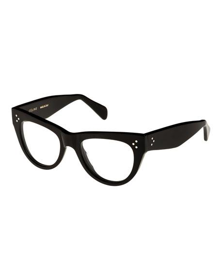 Celine Cat-Eye Acetate Optical Frames, Black | Neiman Marcus