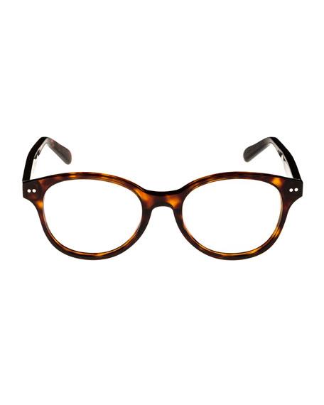Round Acetate Optical Frames, Espresso