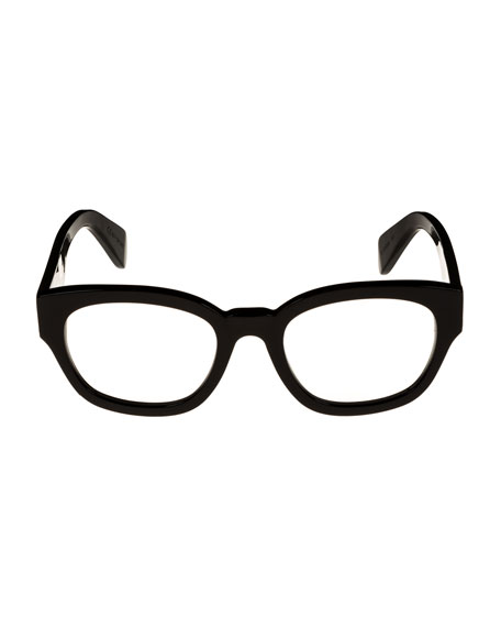 Rectangle Acetate Optical Frames, Black