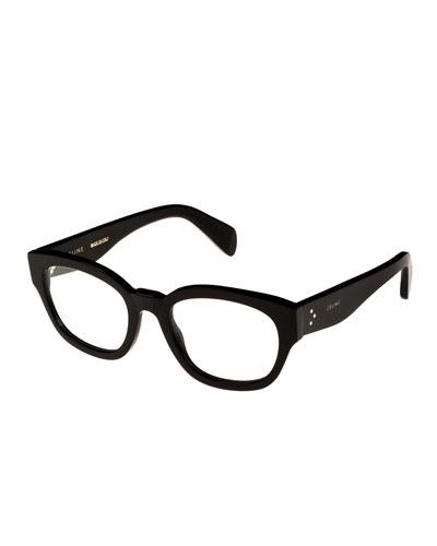 Rectangle Acetate Optical Frames, Black
