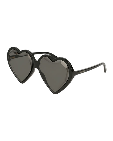 Gucci Forever Hollywood Heart-Shaped Acetate Sunglasses