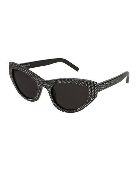 Grace Studded Cat-Eye Sunglasses
