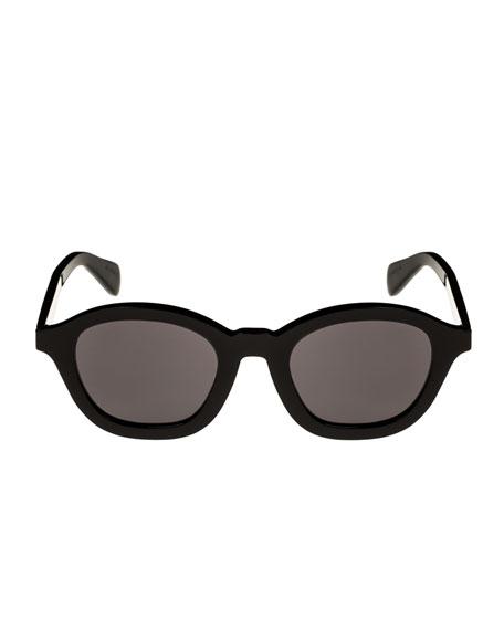 Round Acetate Adjusted-Fit Sunglasses