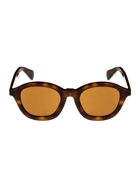 Round Acetate Adjusted-Fit Sunglasses